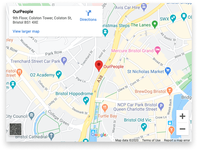 OurPeople Bristol office map